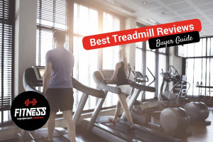 Couple on treadmills in the gym