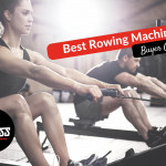 Woman and a man using a rowing machine in the gym