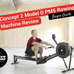 man on a concept 2 rowing machine