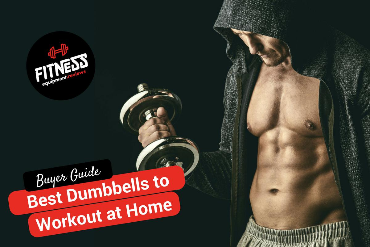 handsome and fit guy working out with dumbbells