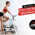 women on a spin bike
