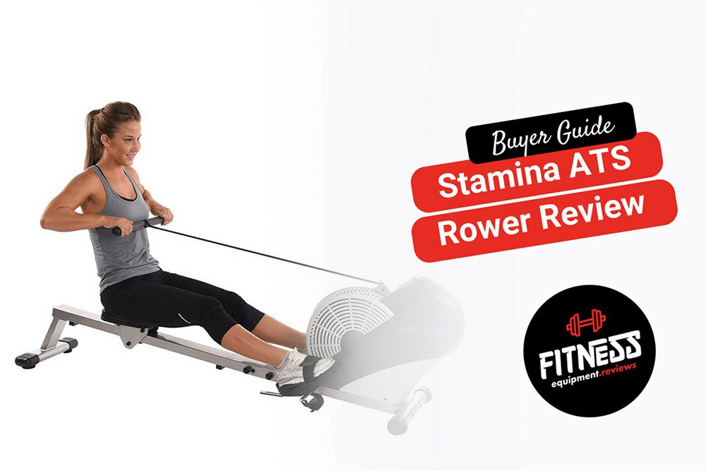 Lady rowing on a stamina ats machine