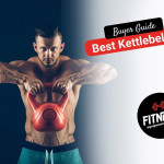 man using a red kettlebell to workout