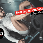 man doing a leg press on machine at the gym