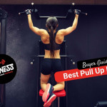 backview of a woman exercising and doing pull-ups