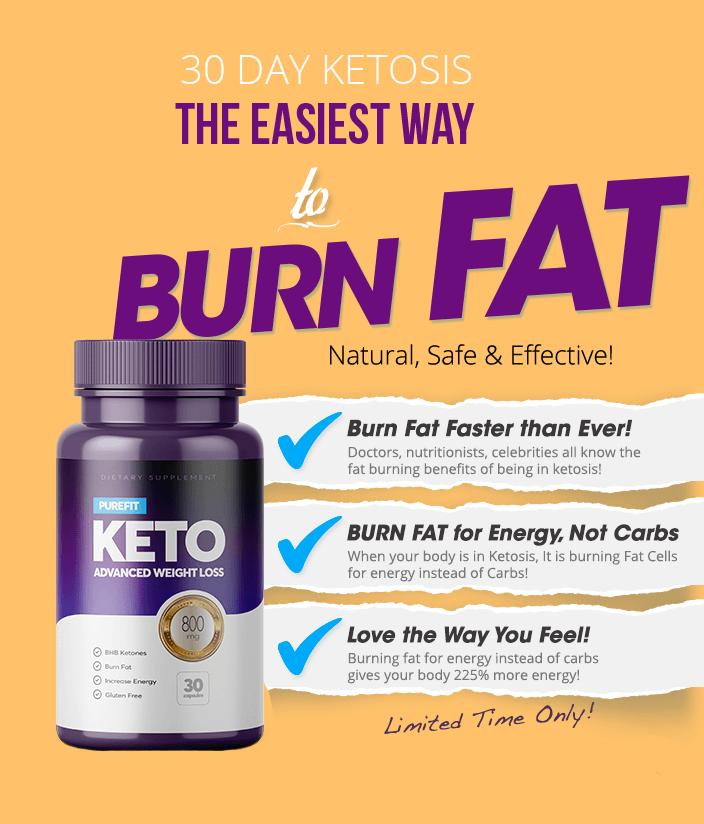 burn fat with purefit keto pills