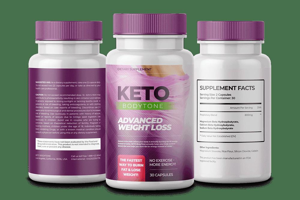 three bottles of keto bodytone