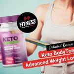 fit woman measuring her waistline al lado de keto bodytone pills