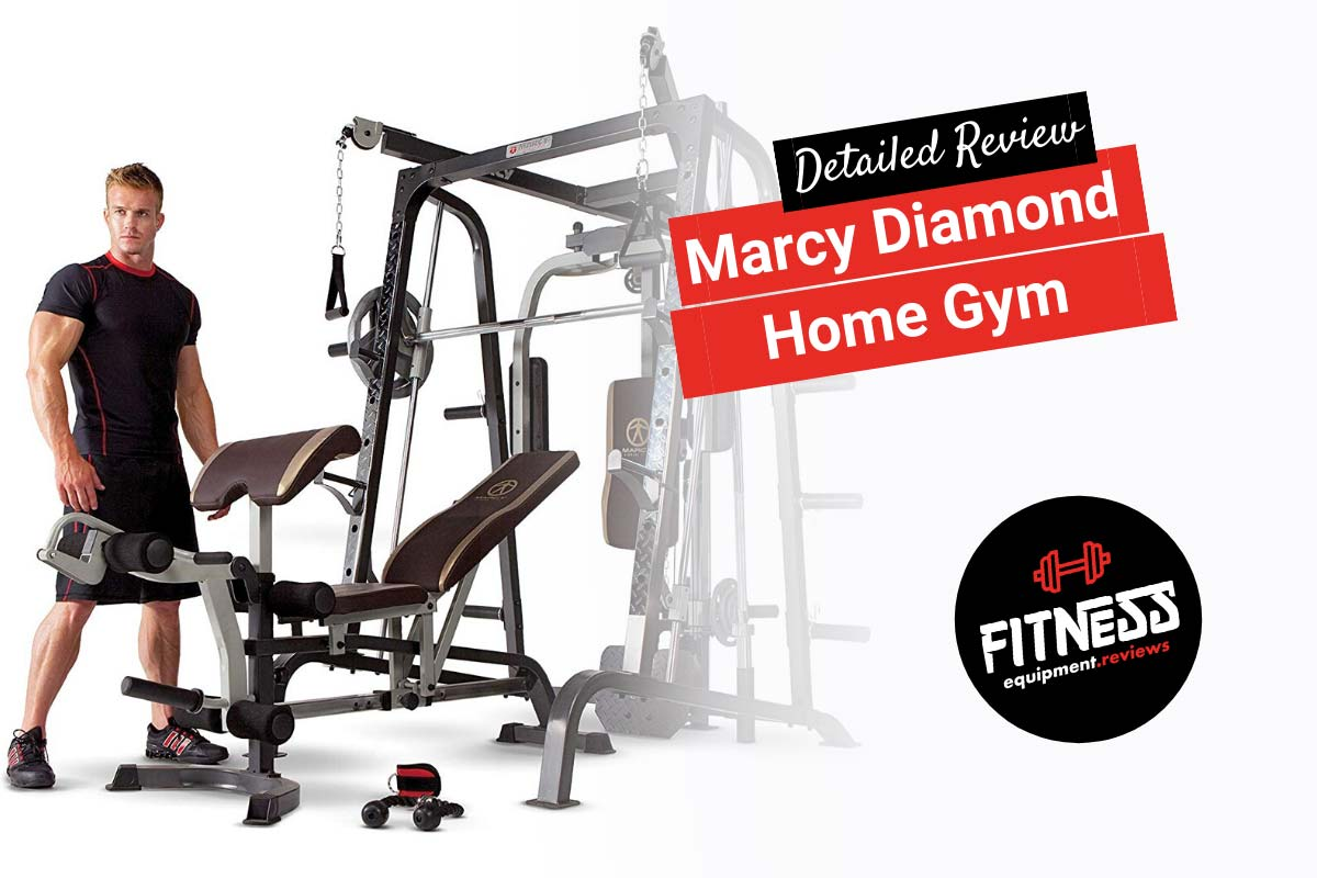 Marcy Diamond Home Gym with man standing next to it