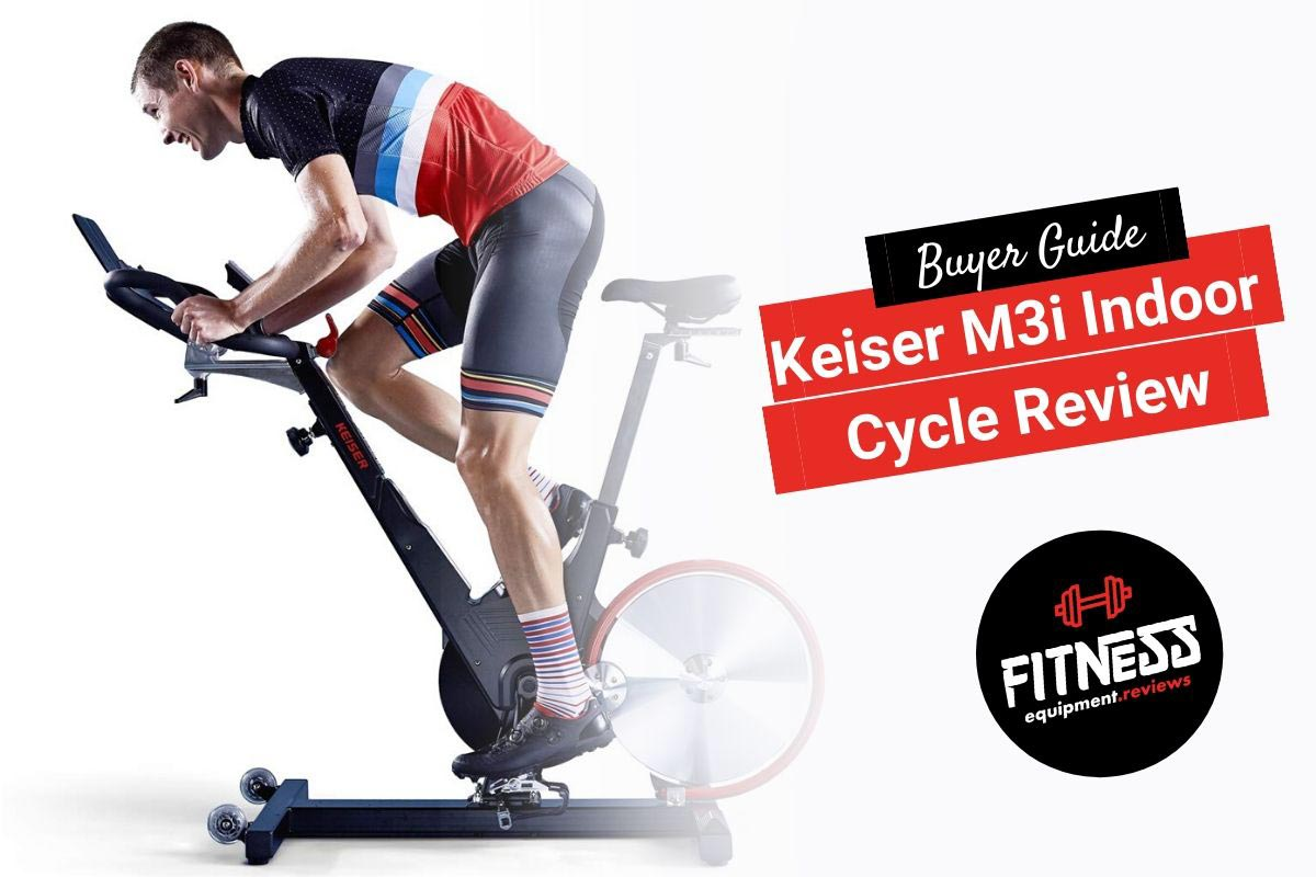 Man riding a Keiser M3i bike