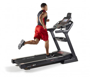 Man running on a Sole F63 Treadmill