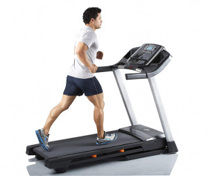 Man running on a T 6.5 s treadmill