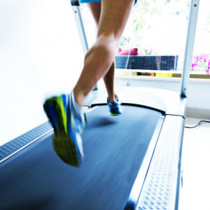 Sprinting on a treadmill