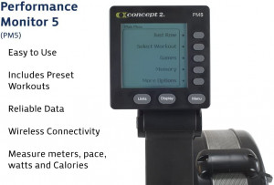 PM5 Concept 2 rowing machine computer