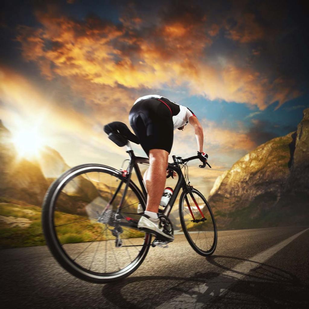 cyclist riding their road bike