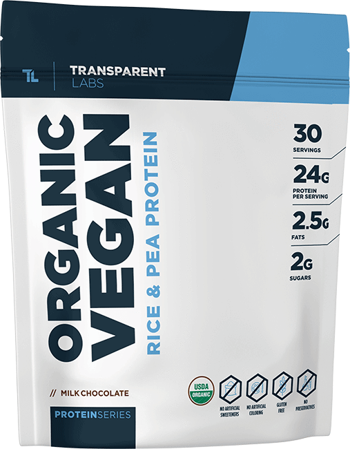 bag of transparent labs organic protein
