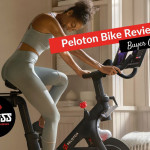 woman on a Peloton spin bike