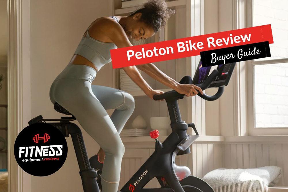 woman on a Peloton spin bike