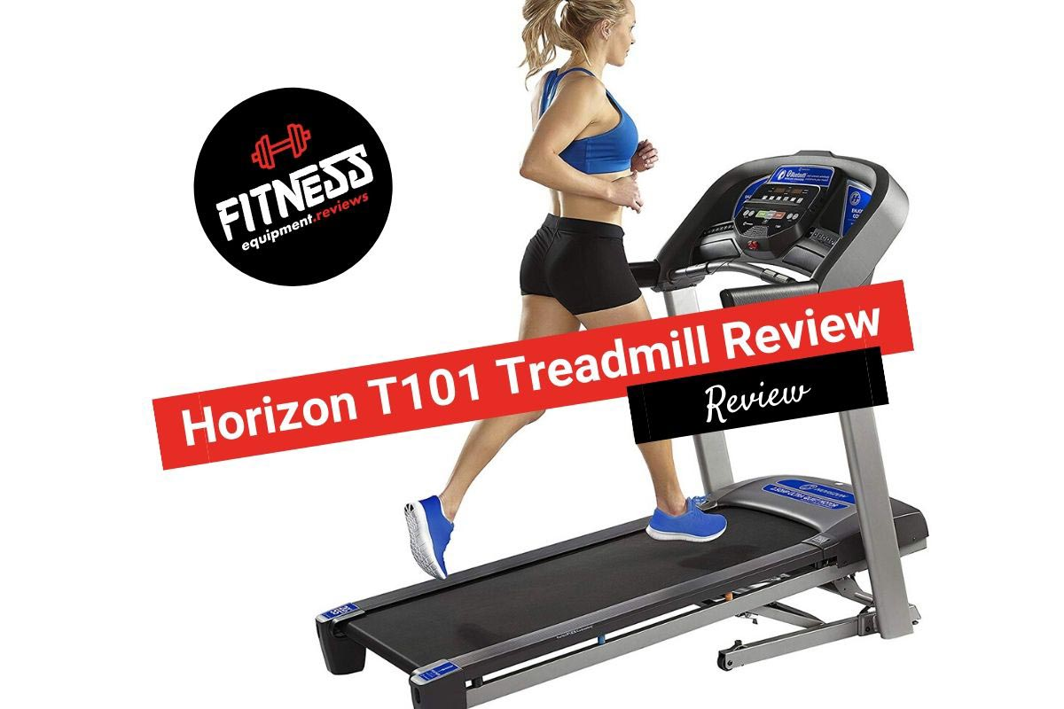 Woman running on a Horizon T101 Treadmill