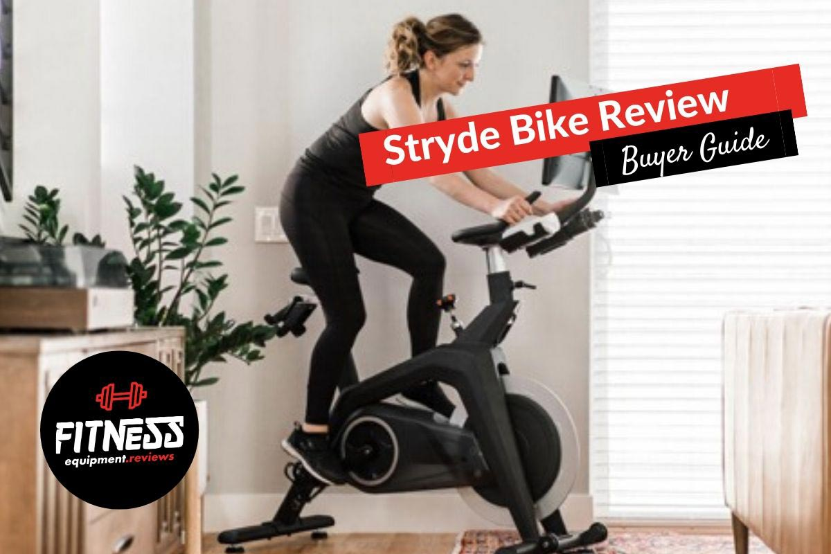 Woman on her stryde bike in the bedroom