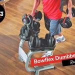 man using bowflex dumbbells