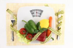 veggies on a scale
