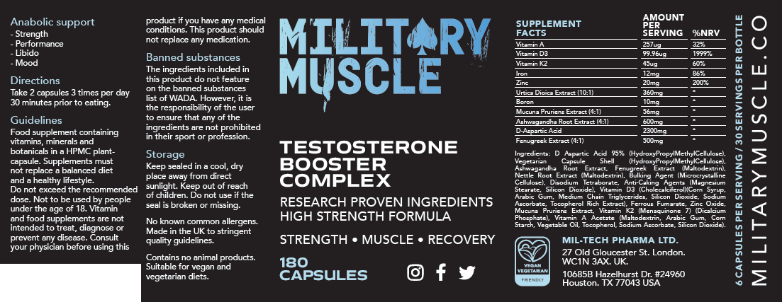 ingredients in military muscle