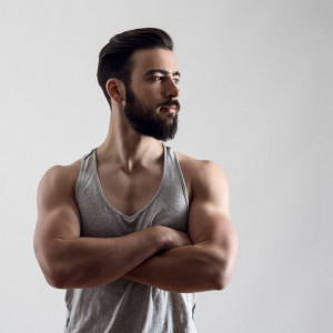man with his arms crossed