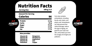 Corn Nutrition Facts Fitness