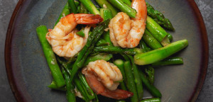 Fried Asparagus Shrimp