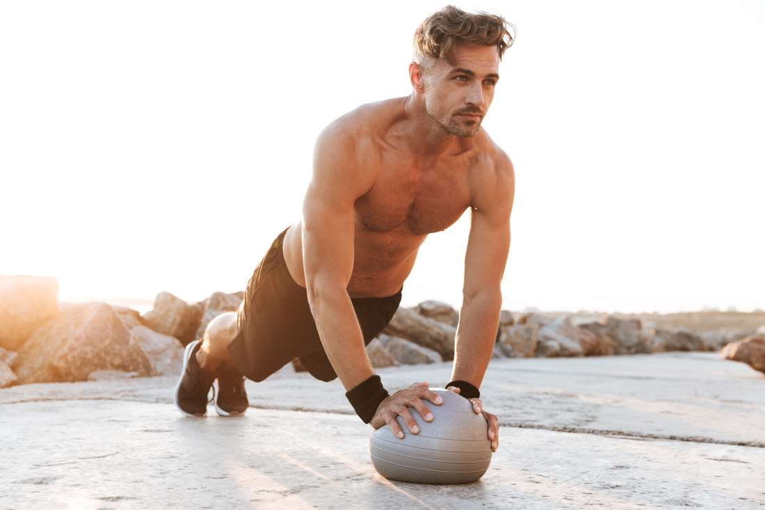 medicine ball press up