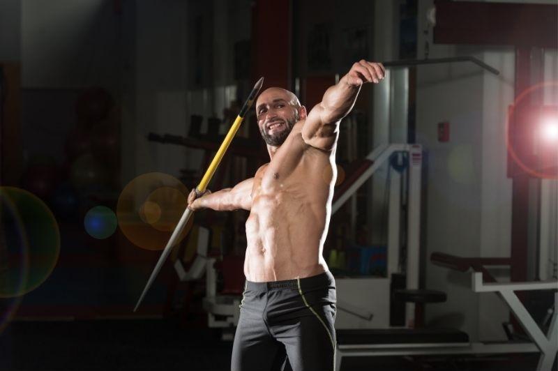 Man holding a javelin