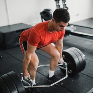 Trap bar squat lifts